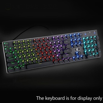 104Pcs ABS Round Key Caps Backlight For Cross Axis MechanicalKeyboard - intl Price Philippines