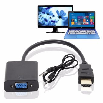 1080P HDMI Male to VGA Female Video Converter Adapter Cable For PC/DVD/PS3