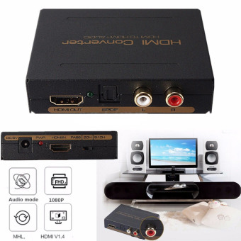 1080P HDMI to HDMI Optical + SPDIF + RCA L/R Extractor TV Converter Audio Splitter - intl