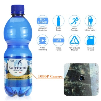 1080P Spy Hidden Bottle Camera Drinking Water Bottle Video Recorder Motion Detection Portable DVR TF Card - intl