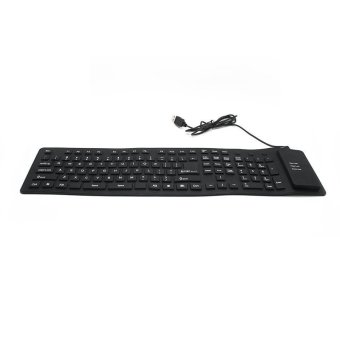 109 Keys Silicone Flexible USB Keyboard (Black) - picture 2