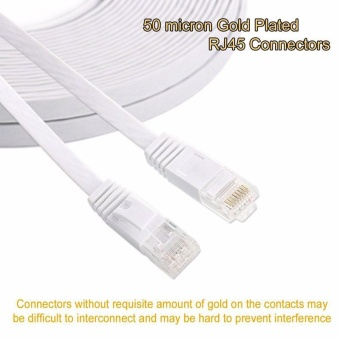 10m Cable CAT6 Flat Ethernet Cable 250MHz 1000Mbps CAT 6 RJ45 Networking Ethernet Patch Cord LAN Cable for Computer Router Laptop - intl
