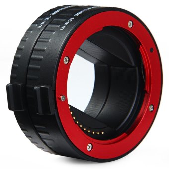 10mm 16mm Auto Focus Macro Extension DG Tube Set For Sony E-mount Camera (Red) - 4