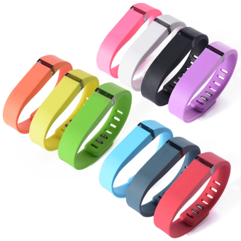 10pcs Replacement Wrist Band Wristband for Fitbit Flex with ClaspsSmall Size (Multicolor) HB141