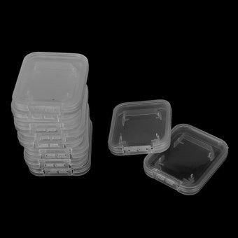 10PCS Transparent Standard SD SDHC Memory Card Case Holder BoxStorage Plastic - intl - 3