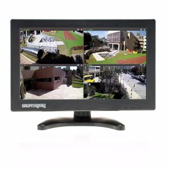 11.6 Inch CCTV Monitor, Sourcingbay YT116 TFT LCD Screen Mini Monitor 1366*768 Video Monitor Display for PC CCTV Camera, USB/HDMI/BNC/VGA/AV/Video/Audio Input with Free HDMI BNC Cable
