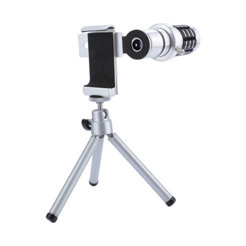 12 Times Zoom Camera Telephoto Telescope Lens + Mount Tripod for cellphone - intl