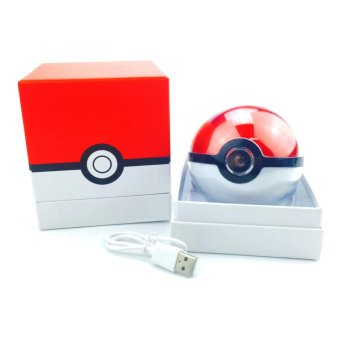 12000 mAh Pokemon Ball Powerbank With LED Projection Light (Red/White) - 3