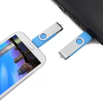 128GB OTG Flash Drive Memory Stick U Disk for Android PC (Darkblue) - 2
