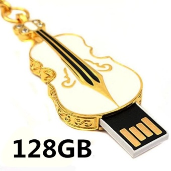 128GB USB 2.0 Crystal Violin Model Flash Memory Stick Storage Thumb Pen Drive - intl