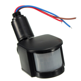 12V DC Outdoor Automatic Infrared PIR Human Motion Sensor Switch for LED Light Black - intl