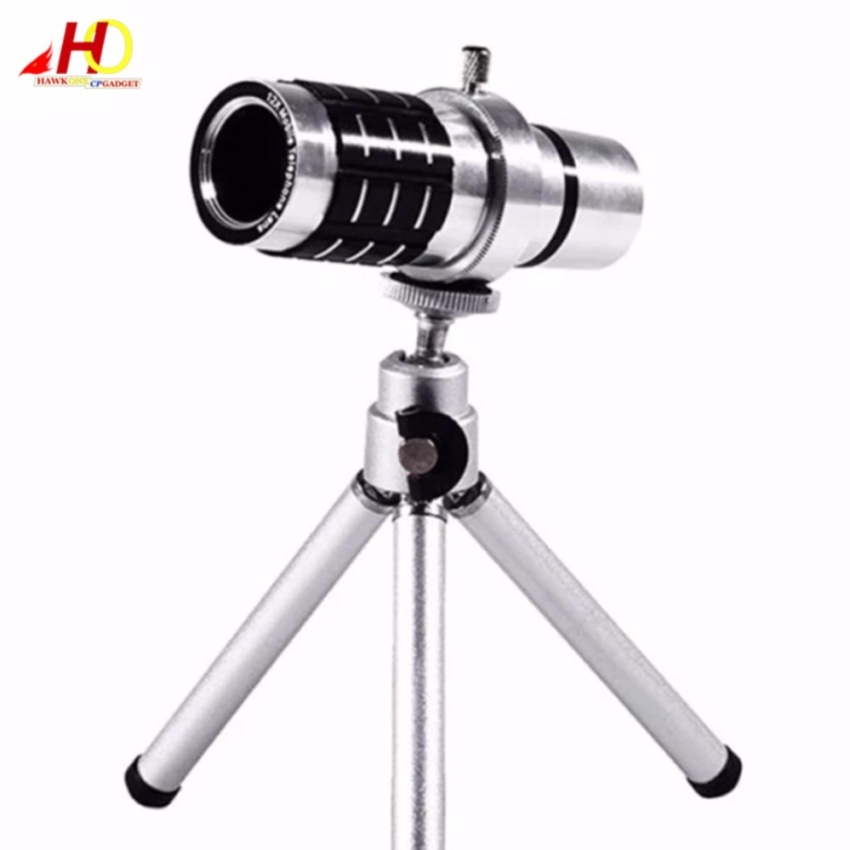 12X Zoom Universal Phone Camera Lens Telescope Lens Metal Manual Focus Clip Lens (Silver)
