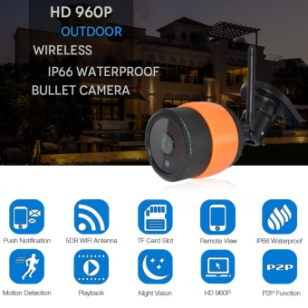 1.3MP WIFI IP Camera Outdoor Wireless Wi-Fi Security CCTV Surveillance Watrerproof Wifi Camera Home Security Onvif Camara IP Cam - intl Price Philippines