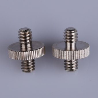1/4 Male To 1/4 Male Threaded Metal Screw Adapter for TripodMonopod - Intl - 3