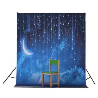 1.5 * 2.1m/5 * 6.9ft Photography Backdrop Background Digital Printed Star Moon Night Pattern for Kid Children Baby Newborn Portrait Studio Photography - intl - 5