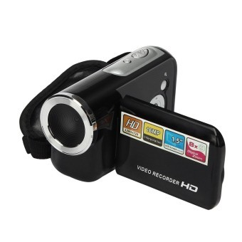 1.5 Inch TFT 16MP 8X Digital Zoom Video Camcorder Camera DV (Black)