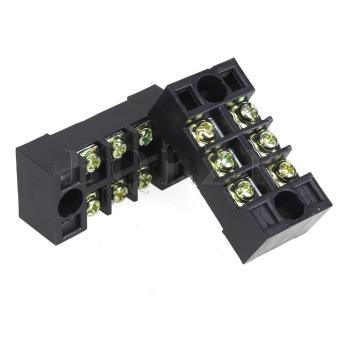 15A 600V Barrier Terminal Block Set of 10 Black - picture 2