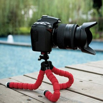 15CM Flexible Tripods Octopus Stand for Camera/Smartphone (Red)