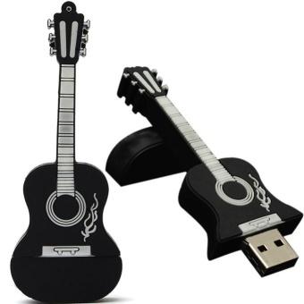 16GB Guitar USB 2.0 Metal Flash Memory Stick Storage Thumb U DiskBK - intl