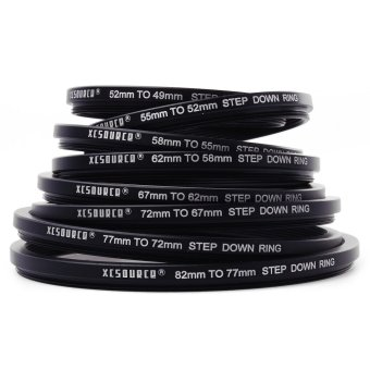 16pcs Step Up Down Lens Filter Ring Adapter Set 49 - 82mm For Canon Metal DC147 - Intl - 2