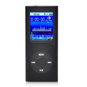 1.8'' 8GB MP3 MP4 Slim Digital LCD Screen FM Radio Music E-book Video Player (Black) - intl