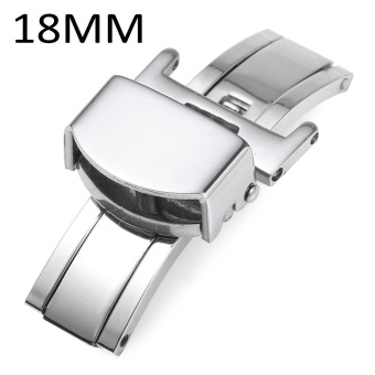 18MM Stainless Steel Deployment Butterfly Clasp Watch Buckle - intl
