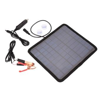 18V 5.5W Solar Panel Car Automobile Battery Power Charger Backup Outdoor Camping - 2