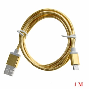 1M Nylon Braided Micro USB 2.0 Android Charging Cord for AndroidSamsung Galaxy S7/S6/S5/Edge Note 5/4/3 Nexus HTC - intl