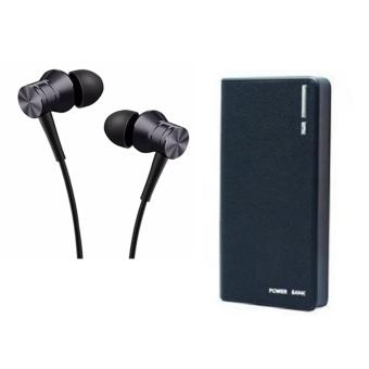1MORE E1009 Piston Fit In-Ear Earphone Earbud Headset withMicrophone (Black) With 20000mAh Wallet Style Power Bank