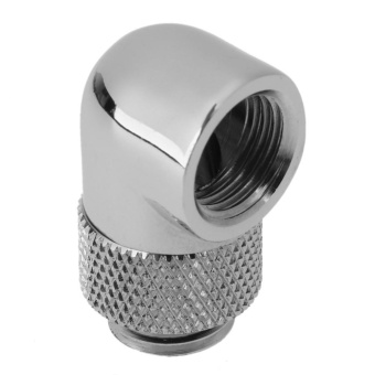 1pc G1/4 Thread 90 Degree Rotary Tube Adapter for PC Water CoolingSystem (Silver) - intl