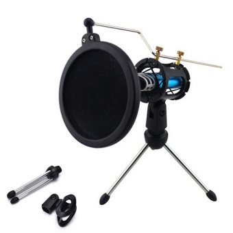 1set Audio Professional Condenser Microphone Mic Studio SoundRecording Shock - intl