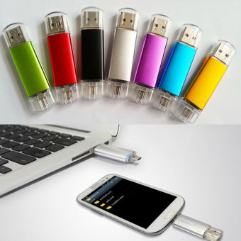 1TB Dual OTG USB 2.0 Phone Port U-Disk Pen Flash Drive Memory Stick For Android(Silver) - intl