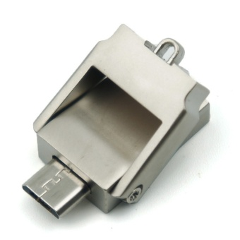 2 IN 1 1TB Metal Mini Tipping Bucket Smart Phone OTG For Android/Tablet PC Pen Drive Waterproof Flash Drive+Free key chain anti-loss - intl - 3
