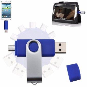2 IN 1 OTG Pen Drive For Mobile Phone 1TB Memory Stick AndroidSmartphone Usb 2.0 U Disk USB Flash Drive Pendrive_Dark blue - intl - 5