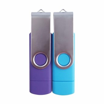2 IN 1 OTG Pen Drive For Mobile Phone 1TB Memory Stick AndroidSmartphone Usb 2.0 U Disk USB Flash Drive Pendrive_Purple - intl