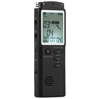 2 in 1 T60 Professional High Fidelity 8GB LCD Screen Time DisplayDigital Voice/Audio Recorder MP3 Player Built-in MIC SupportWindows 2000 / XP / 7 / Vista - intl