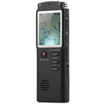 2 in 1 T60 Professional High Fidelity 8GB LCD Screen Time DisplayDigital Voice/Audio Recorder MP3 Player Built-in MIC SupportWindows 2000 / XP / 7 / Vista - intl - 2