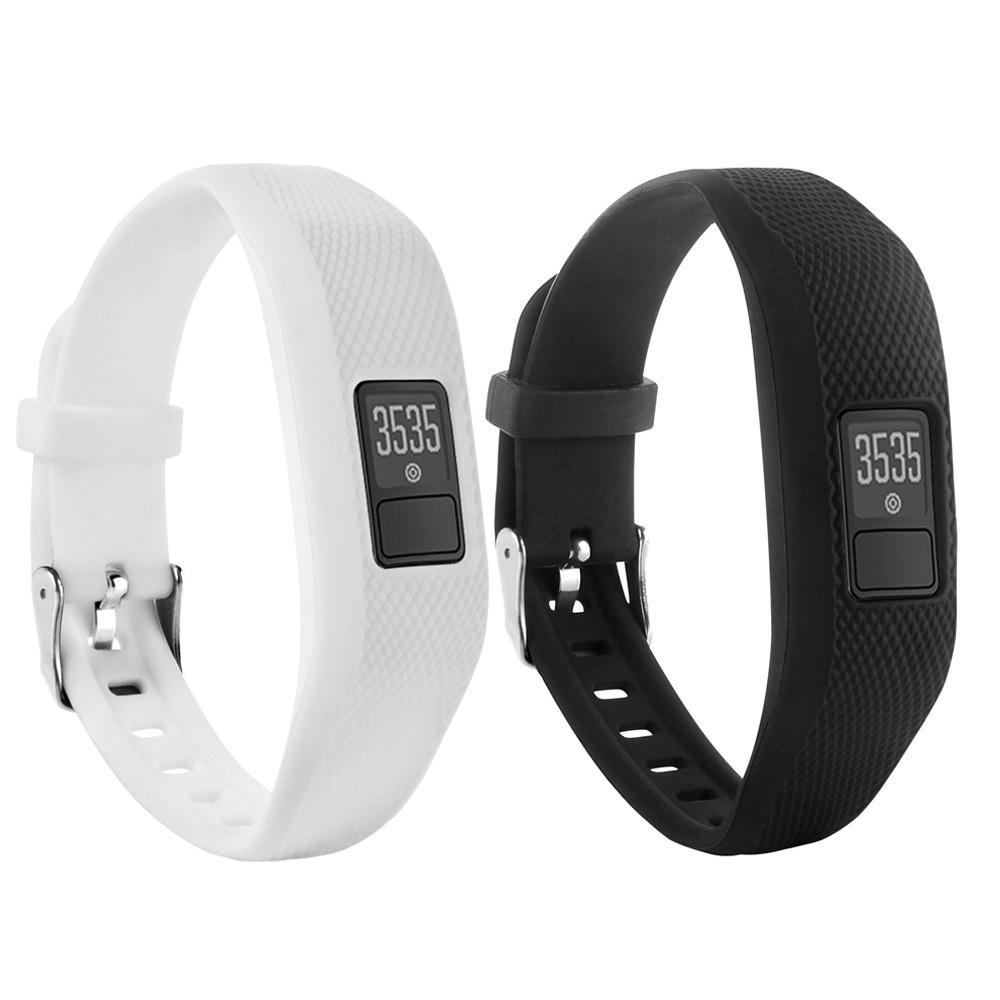 2 PCS Replacement Wristband Bands Strap With Metal Buckle ForGarmin Vivofit 3 Clasps Fitness