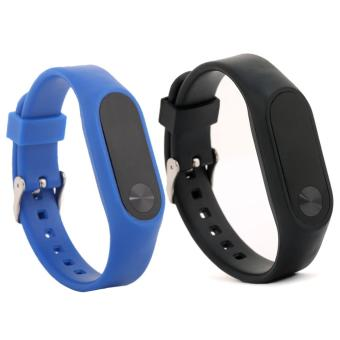 2 PCS Silicone Replace Bracelet Wristbands Strap for Xiaomi Mi Band2/MiBand 2/Xiaomi Band 2/Mi Band 2 - intl