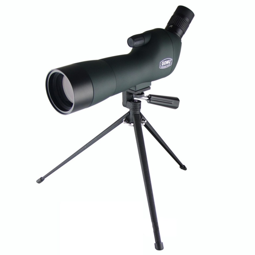 20-60X60AE GOMU Zoom HD Adjustable Monocular Telescope Spotting Scopes with Portable Tripod Telescopio for Hunting Bird watching - intl