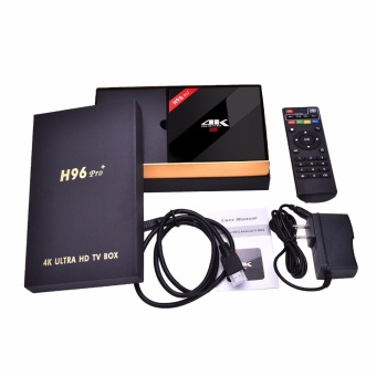 2017 H96 Pro Plus Android 7.0 TV Box Amlogic S912 Octa Core 64BitRAM 3GB ROM 32GB 2.4G&5.0GHz WIFI BT 4.1 HDMI 4K KODI 17.3 -intl - 5