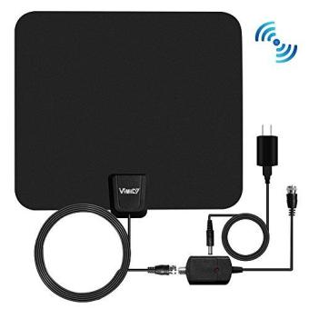 2017 Model TV Antenna - 50 Miles Digital Antenna Indoor - SmallerAnd High Reception - Upgraded Version Better Reception Price Philippines