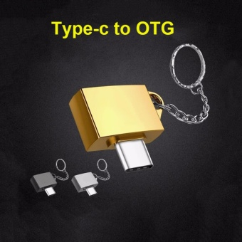 2017 New Arrival Metal Type C OTG USB 3.1 Type-C To USB 2.0 OTGConnector Adapter Male To Female Adaptor with Key Chain for PhoneGamepad Keyboard Mouse U Disk - intl