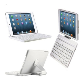 2017 NEW Cover Case with 360 Degree Swivel Rotary Stand BluetoothWireless Keyboard for iPad2/3/4 - intl