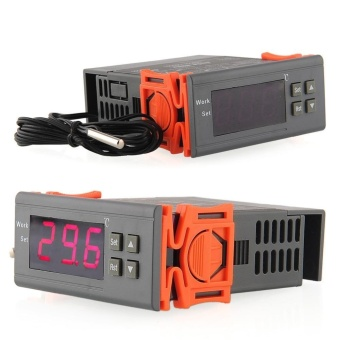 220V Digital LCD Temp Temperature Controller Switch Thermostat w/Sensor - intl
