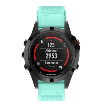 22mm Quick Install Easyfit Soft Silicone Band Strap with Tools for Fenix 5 / Forerunner 935 GPS Watch - intl - 5