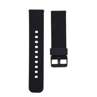22mm Sports Silicone Watch Strap for Samsung Galaxy Gear S3 Classic(Black) - intl