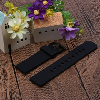 22mm Sports Silicone Watch Strap for Samsung Galaxy Gear S3 Classic(Black) - intl - 3
