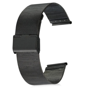 22mm Stainless Steel Mesh Bracelet Watch Band Replacement Strap forMen Women - intl