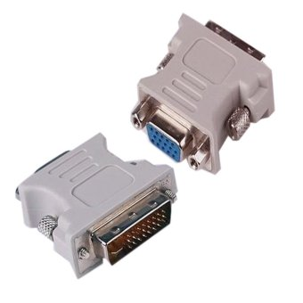 24 pin DVI to VGA Connector (White) Set of 2